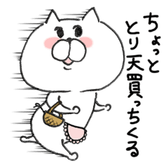 White cat of the Oita dialect