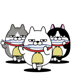 The three cats that move