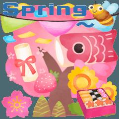Cute Spring Season Watercolor Sticker