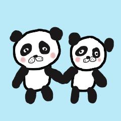 Twins panda twins