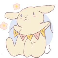 Rabbits and birds heart sticker