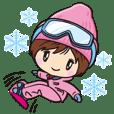 スノーボード少女