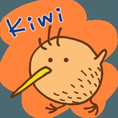 Round Kiwi Bird