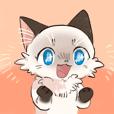 Pointedcolor cat sticker
