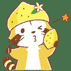 檸檬風味小浣熊☆打招呼貼圖