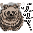 Racoon dog sticker.