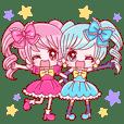 反対双子の リコとマコ