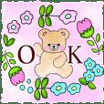 mamama-chin-s6 Sticker.flower bear