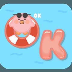 Hot Summer Holiday Vibe w/ Pink Bird ENG