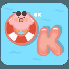 Moving Hot Summer Holiday Vibe Pink Bird