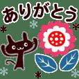 【動く❤️北欧ねこさん】素敵なあいさつ