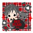 RED PLAID  boys -japanese-