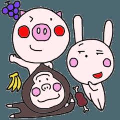 Baby Gorilla Emotions 100 Faces Sticker