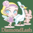 Glamorous Eyelashes Fairy Dia Stickers.