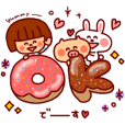 Daily Sticker-girl&animals-