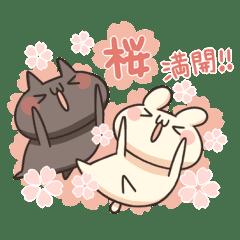 うさぎのしろとねこのくろ ぱーと12春!