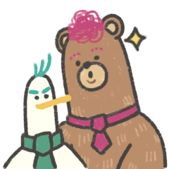 Alfonso the Bear and Cracker the Duck