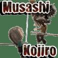 Samurai 3D sticker(Musashi&Kojiro)