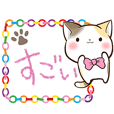 Ribbon and Calico cat (Crayon version)