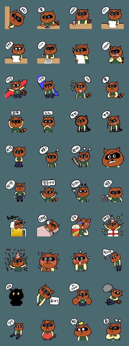 Emotion of Raccoon