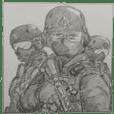 Militer sticker infanteri