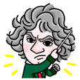 BEETHOVEN = Sticker
