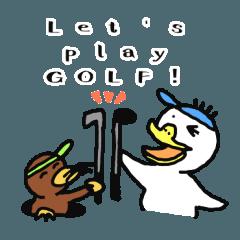Par-kun & Mogey-kun Golf Sticker