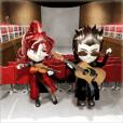 Musician sticker 3D