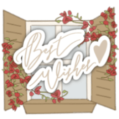 Botanical celebration sticker