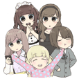 Reader model's LINE sticker