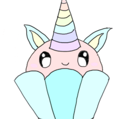 Kawaii unicorn cupcake