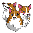 Pembroke Welsh Corgi Manly Sticker