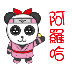 panda ninja girl