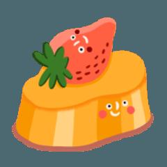 第一碗草莓布丁
