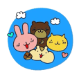 Cute Animals Greeting Sticker