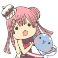 Kawaii Sticker of MELPHARIA (FEZ)