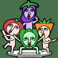 vegetables man sticker