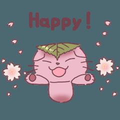 mushroom cat KINEKO's sticker part.8