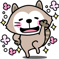 Easy going raccoon sticker