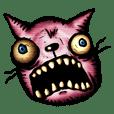 激しい顔のネコ
