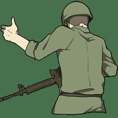 The last of the battlefield Sticker EN