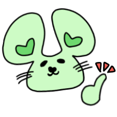 pastel color mouse green ver.