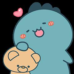 : Cute Dino : (Green)