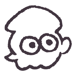 Squid Character Sticker
