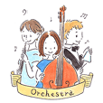 We are orchestra members