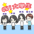 Four female students in Taiwan