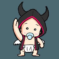 A little devil angel baby