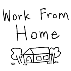 Text for Work From Home boy