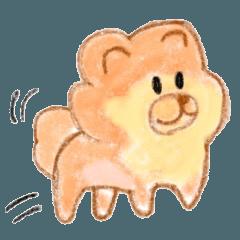 pomeranian dog illustrations sticker