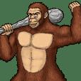 雷印猿人の行動観察記録